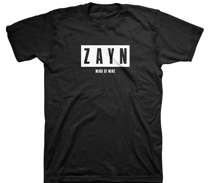 "<p><strong>Zayn Malik</strong> Mind of Mine Tour Merchandise, $30.00. <a rel=""nofollow"" href=""http://zaynmalikstore.com/shop-all/mind-of-mine-black-tee.html"" target=""_blank"">Zaynmalikstore.com</a> </p>"