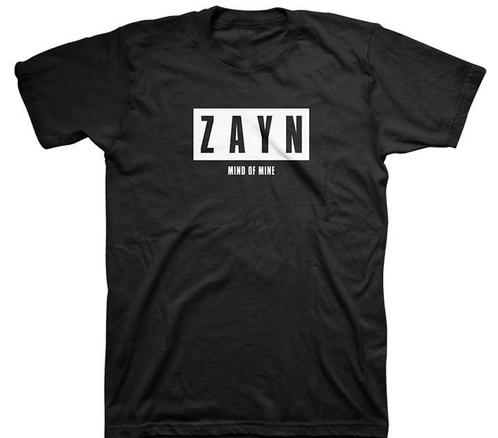 "<p><strong>Zayn Malik</strong> Mind of Mine Tour Merchandise, $30.00. <a rel=""nofollow"" href=""http://zaynmalikstore.com/shop-all/mind-of-mine-black-tee.html"" target=""_blank"">Zaynmalikstore.com</a> </p>"
