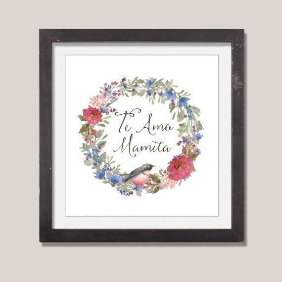 "Etsy, starting at <a href=""https://www.etsy.com/listing/230209724/te-amo-mama-custom-quote-art-spanish?ga_order=most_rel"