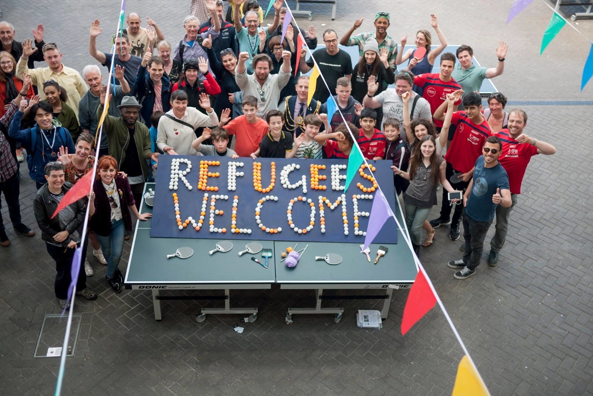 Meet The UK's First Table Tennis Club Of Sanctuary That's Giving A Masterclass In