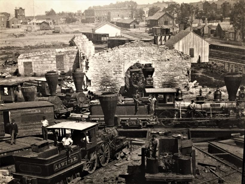 Atlanta and Chattanooga were major rail centers at the start of the Civil War.