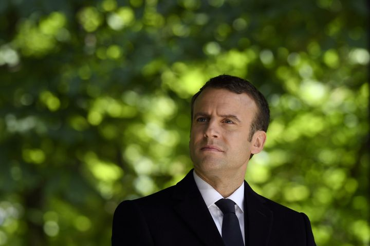 Macron at a ceremony marking the anniversary of the abolition of slavery. Paris, May 10.