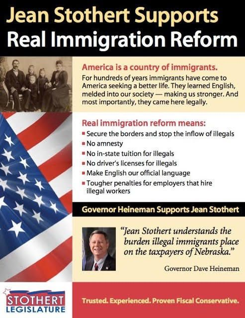 Omaha Mayor Jean Stothert campaigned for state legislature in 2006 on a hard-line immigration enforcement platform.
