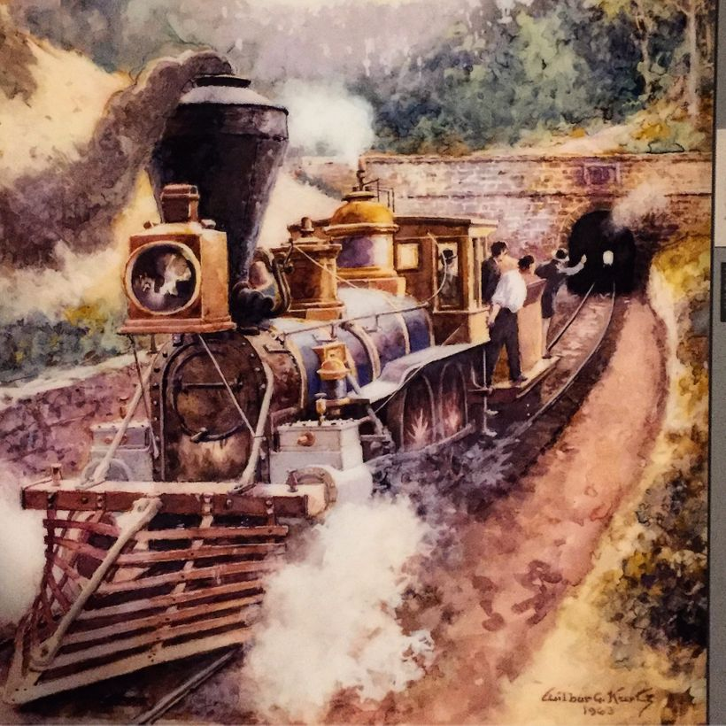 Depiction of The Texas racing into Tunnel Hill.