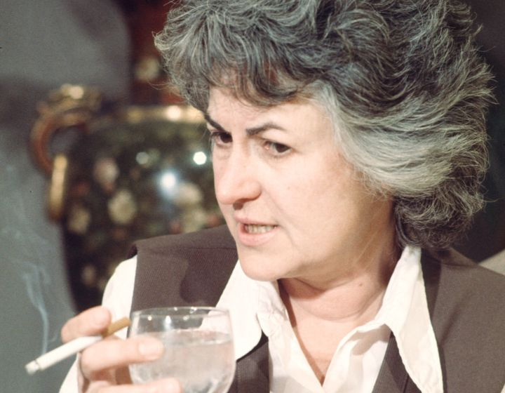 """Bea Arthur holds a wine glass and a cigarette in a scene from """"Maude."""""""
