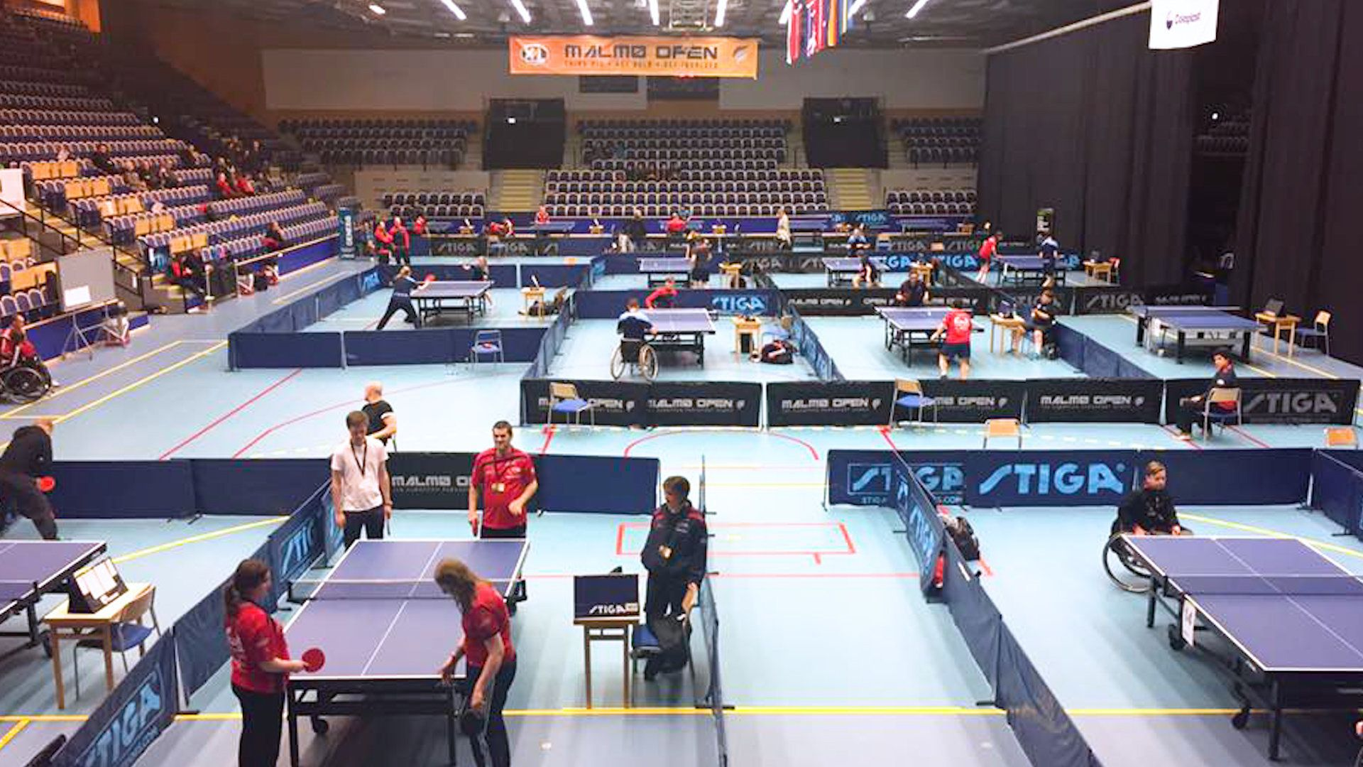 Disabled players from Brighton Table Tennis Club competing in Malmo, Sweden, in