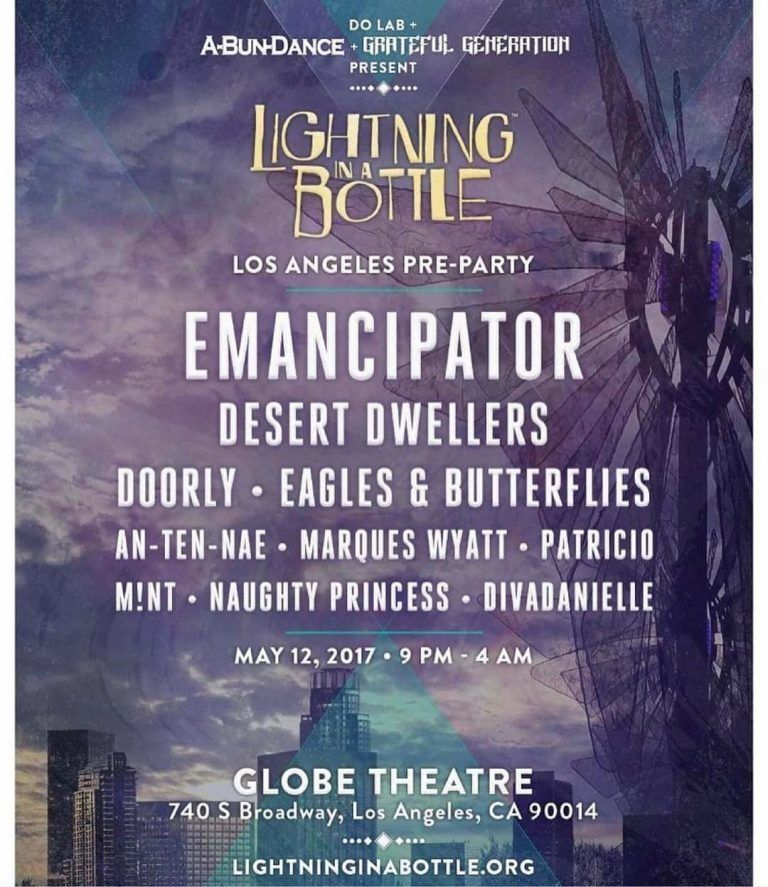 An-Ten-Nae will be performing at the Lightning in a Bottle Pre-Party in Los Angeles, Friday, May 12