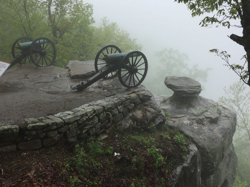 """Point Park on top of Lookout Mountain, site of what was called, """"The Battle Above the Clouds."""""""