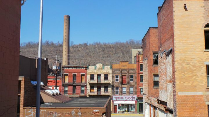 Abandoned buildings and mills in Monessen, PA.
