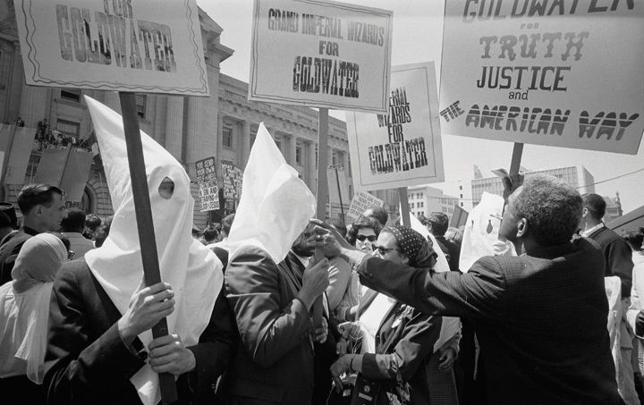 KKK members support the Goldwater presidential bid at the 1964 RNC.