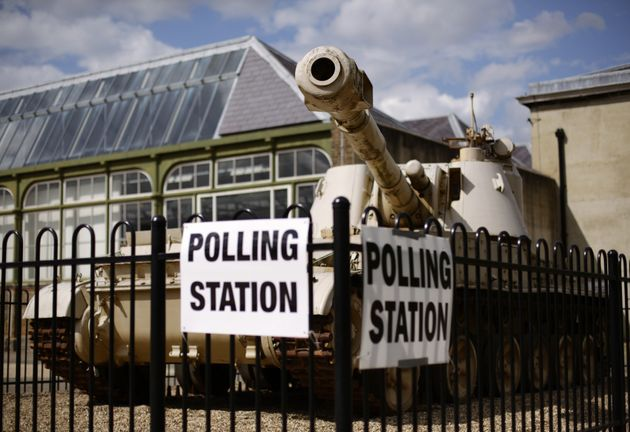 Although not illegal, HuffPost UK does not recommenddriving an actual tank to your local polling