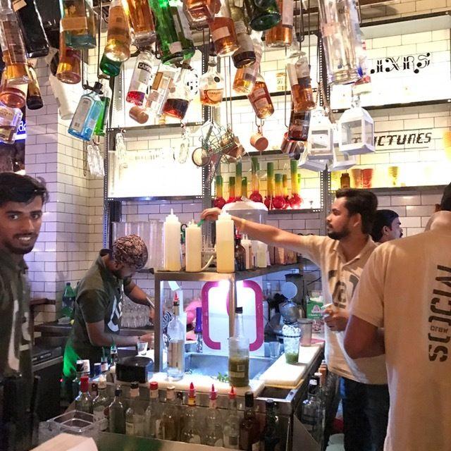 Mixing up cocktails at Colaba Social