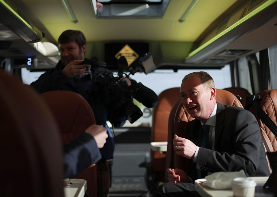 Liberal Democrats leader Tim Farron speaks to reporters on his general election battle