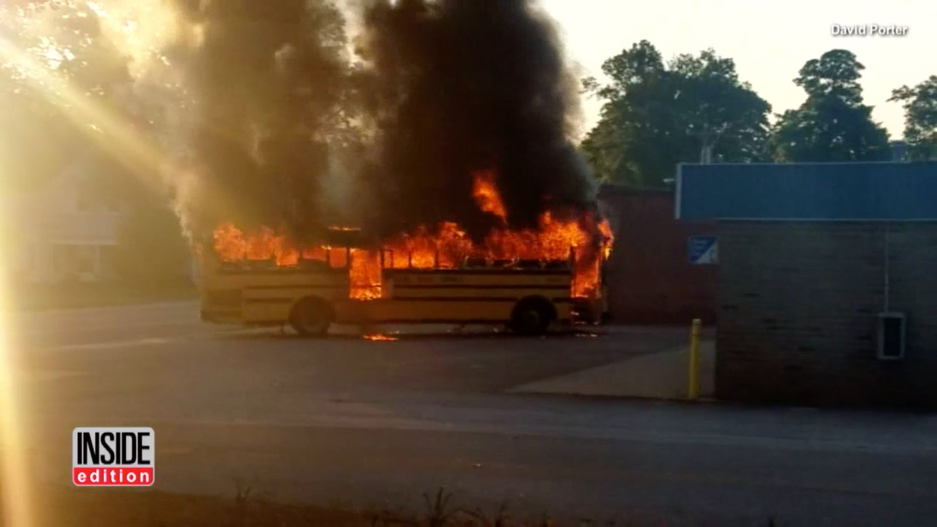 A South Carolina school bus driver is being credited with saving 56 students just before the vehicle burst into flames