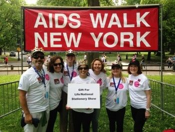 Gift For Life/National Stationery Show AIDS Walk NY 2015 team (L-R): Matt Katzenson of Fine Lines and team co-leader; Jill Ma