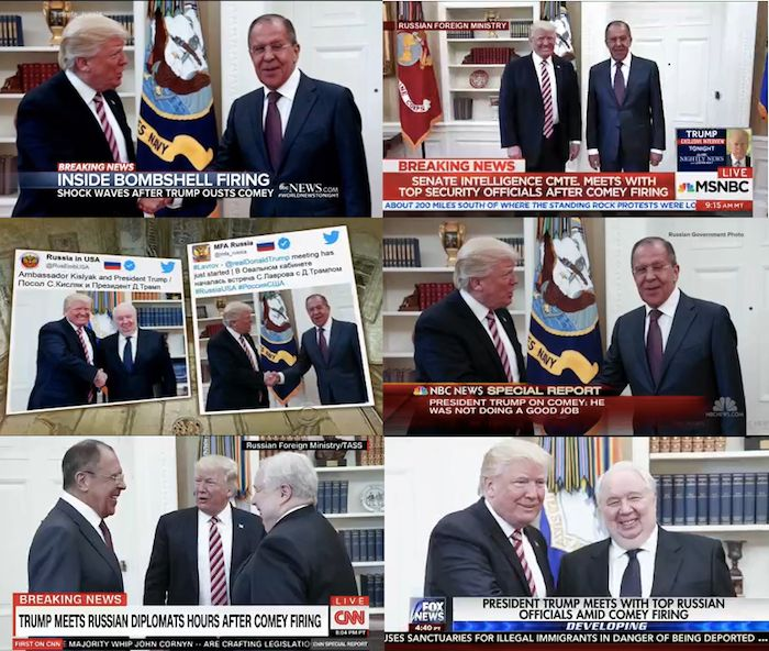U.S. TV networks had only images distributed by the Russian government and its news agency to show Americans Trump's Whi
