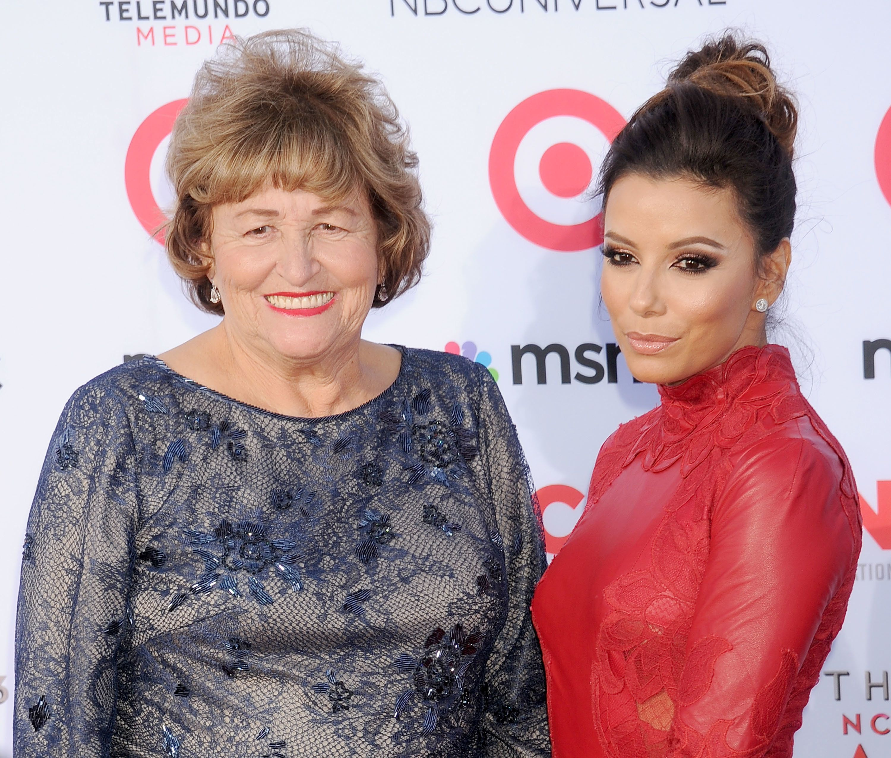 PASADENA, CA - SEPTEMBER 27:  Actress Eva Longoria and mom Ella Eva Mireles arrive at the 2013 NCLA ALMA Awards at Pasadena Civic Auditorium on September 27, 2013 in Pasadena, California.  (Photo by Gregg DeGuire/WireImage)