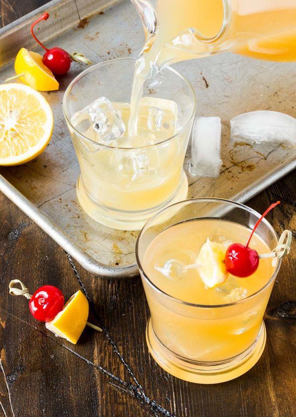 "<strong>Get the <a href=""https://www.garnishwithlemon.com/meyer-lemon-whiskey-sours/"" target=""_blank"">Big Batch Meyer Lemon W"