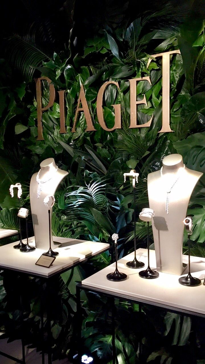 Piaget jewels on display.
