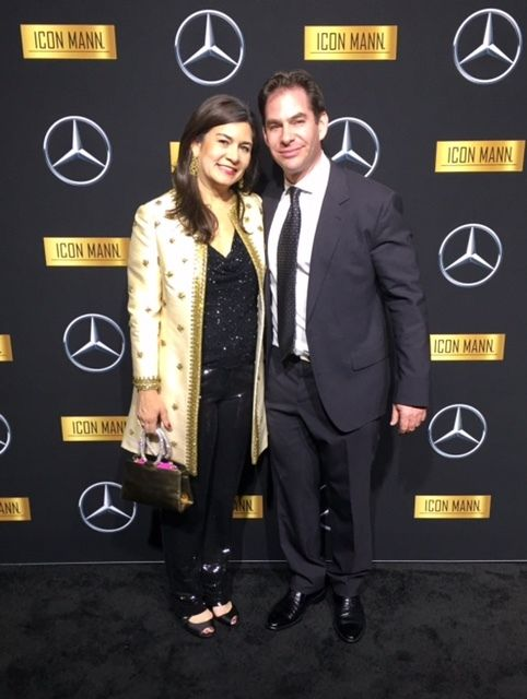Oscar night at the Mercedes event.