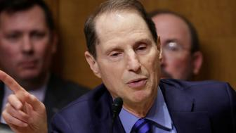 Senator Ron Wyden (D-OR) speaks during a Senate Finance Committee confirmation hearing for Steven Mnuchin on his nomination to be Treasury secretary in Washington, U.S., January 19, 2017.      REUTERS/Joshua Roberts
