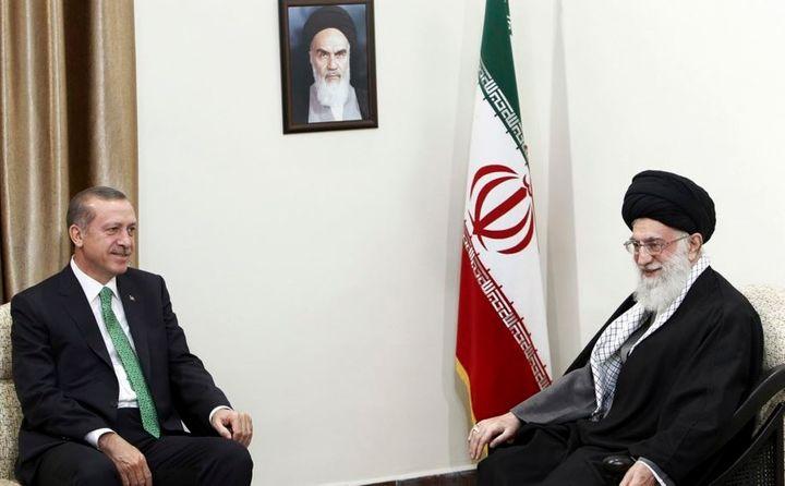Erdogan met with the Iranian Supreme Leader Ayatollah Ali Khamenei on January 29, 2014.