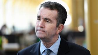 ARLINGTON, VA - MARCH 08: Virginia Lieutenant Governor Ralph Northam visits Ronald Reagan Washington National Airport to visit with airport workers on Wednesday March 08, 2017 in Arlington, VA. (Photo by Matt McClain/The Washington Post via Getty Images)
