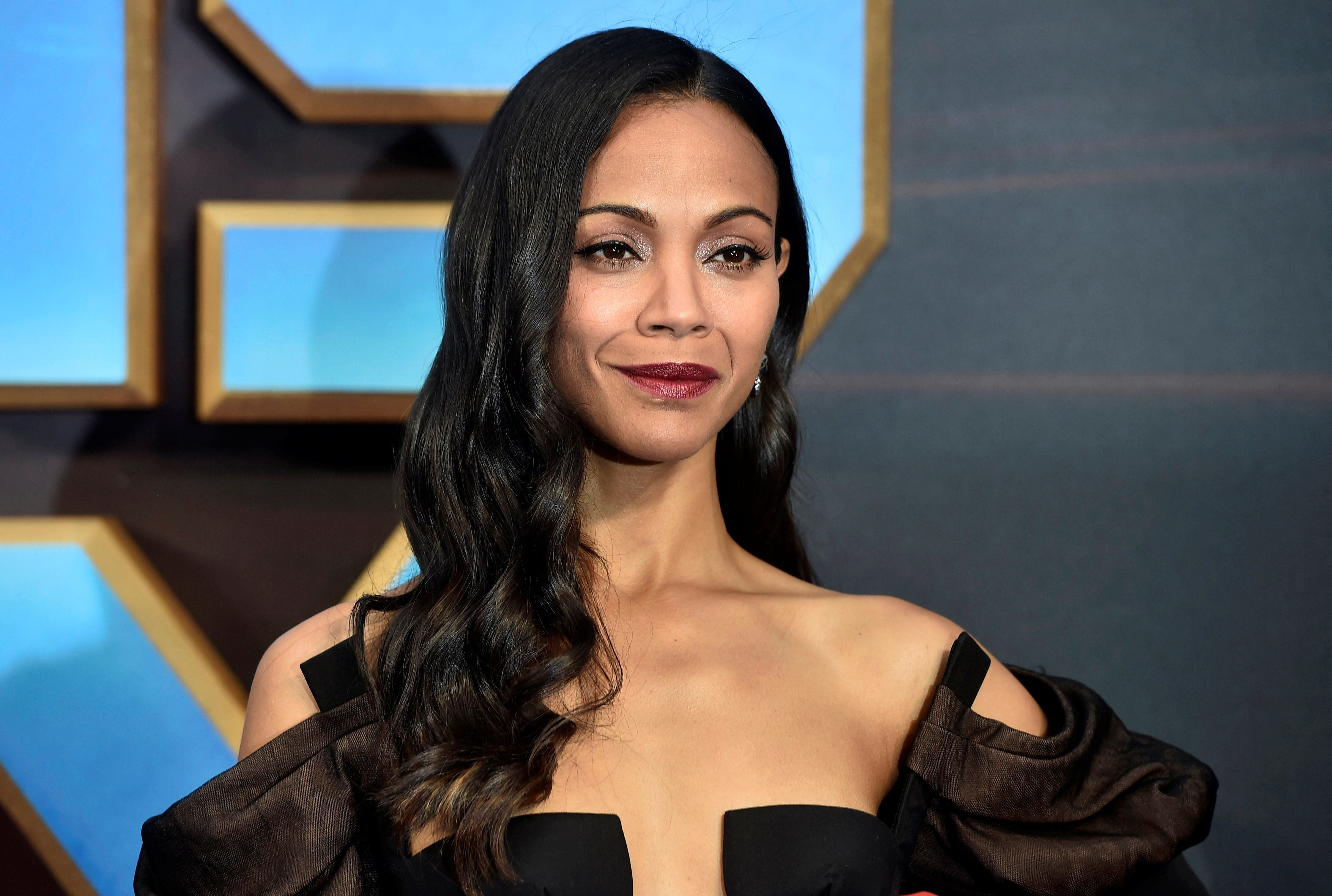 "Actor Zoe Saldana attends a premiere of the film ""Guardians of the galaxy, Vol. 2"" in London April 24, 2017. REUTERS/Hannah McKay"