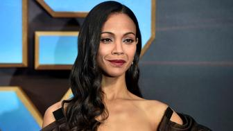 """Actor Zoe Saldana attends a premiere of the film """"Guardians of the galaxy, Vol. 2"""" in London April 24, 2017. REUTERS/Hannah McKay"""