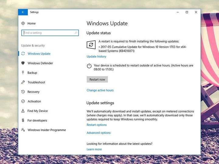 <strong>WINDOWS UPDATES </strong>Security updates are so important, they're often fully automatic.