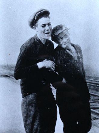 Hemingway and friend Morris Musselman.