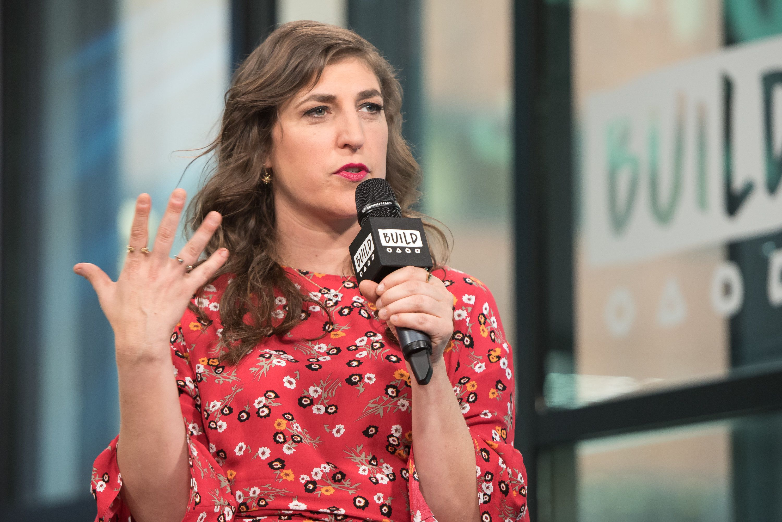 NEW YORK, NY - MAY 09:  Mayim Bialik visits Build Studio to discuss her new book 'Girling Up: How to Be Strong, Smart and Spectacular' at Build Studio on May 9, 2017 in New York City.  (Photo by Mike Pont/WireImage)