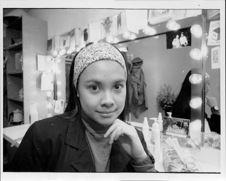 "Lea Salonga in her ""Miss Saigon"" dressing room, circa 1991."