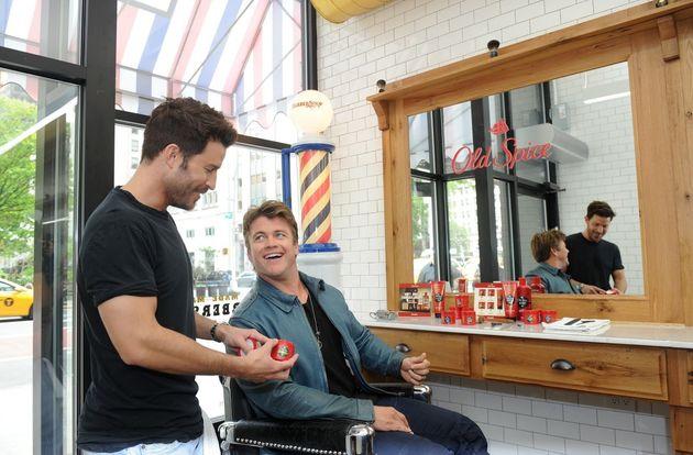 Luke Hemsworth and celebrity stylist Benjamin Thigpen. (Not pictured: Luke Hemsworth's dirty