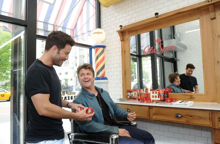 Luke Hemsworth and celebrity stylist Benjamin Thigpen. (Not pictured: Luke Hemsworth's dirty boots.)