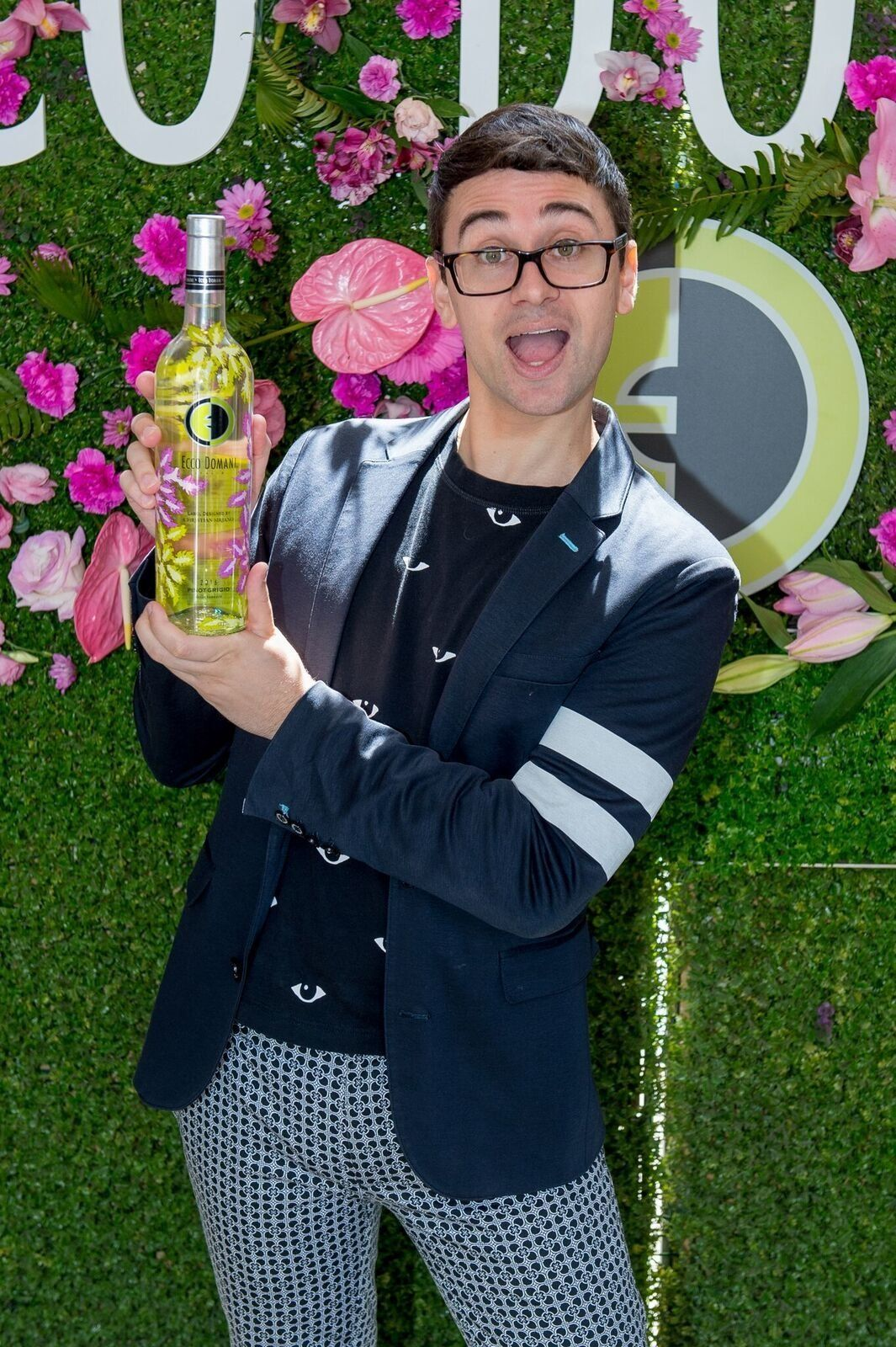 Designer Christian Siriano said his new Ecco Domani Pinot Grigio design was inspired by Palm Springs in the 1960s.