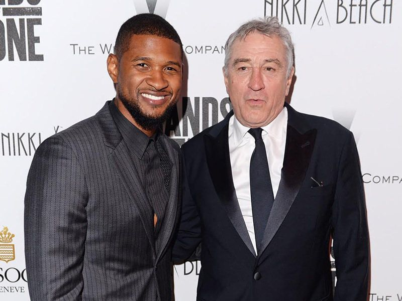 Usher and Robert De Niro