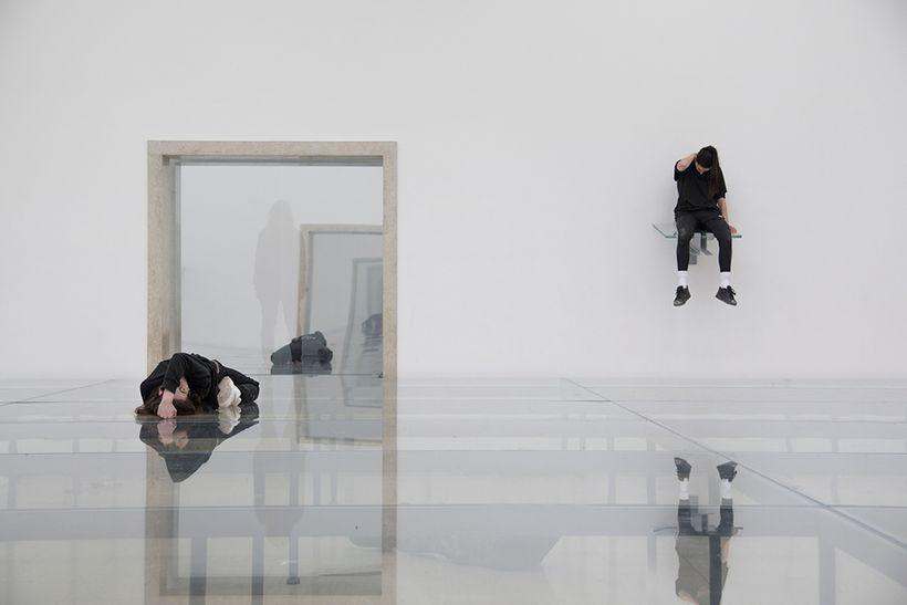 Eliza Douglas and Franziska Aigner in Anne Imhof, <em>Faust</em>, 2017. German Pavilion, 57th International Art Exhibition –