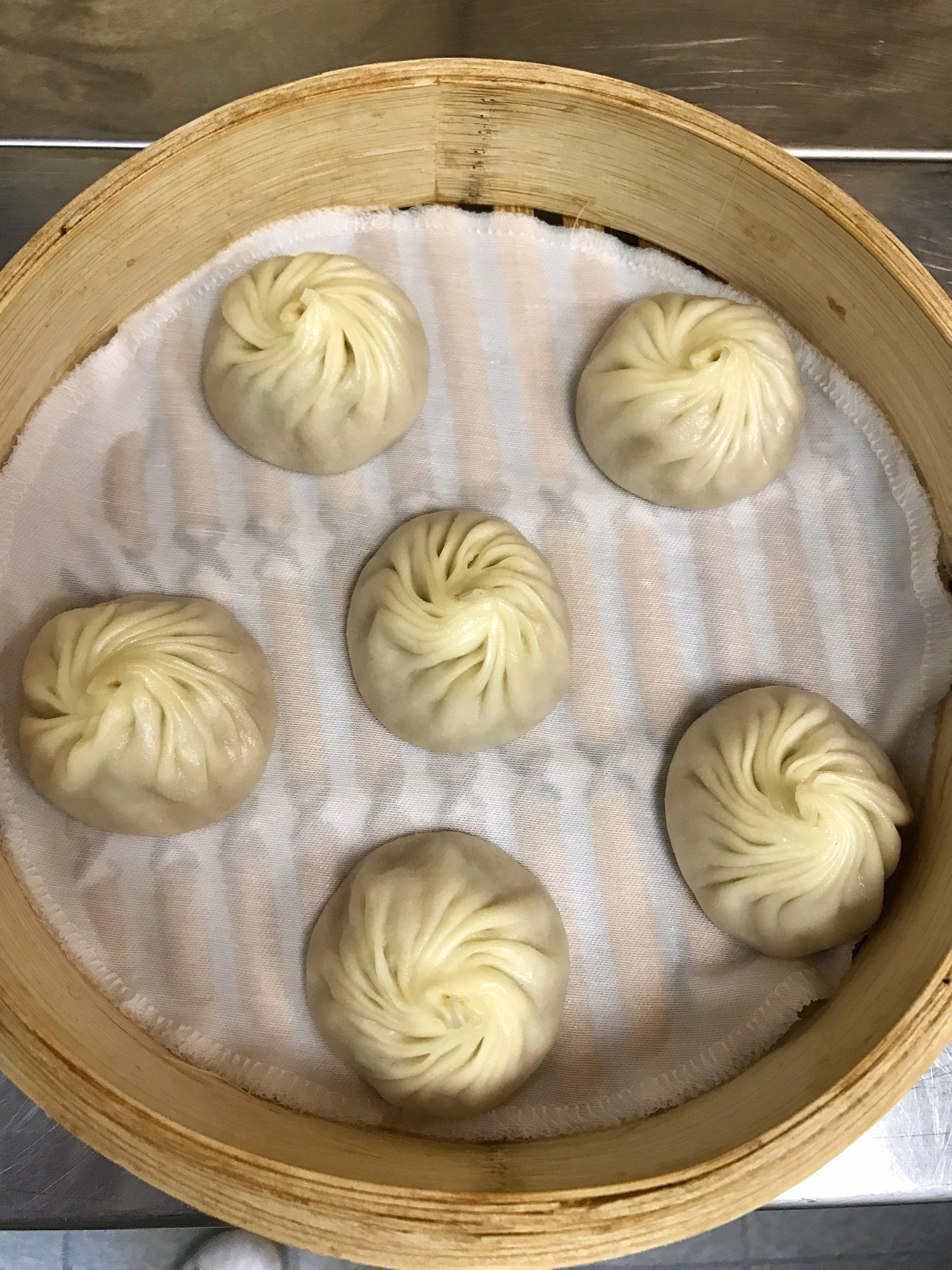 One order of Din Tai Fung's xiaolongbao.