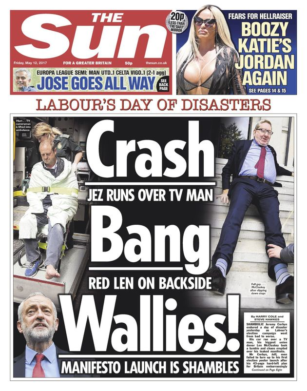 The Sun's front page on