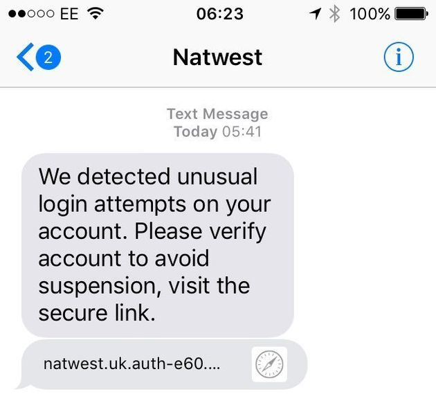 Fraudsters Target Natwest Customers With Text Message