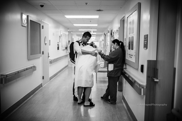 """Walking the L&D ward accompanied by a loving, emphatic and supportive nurse."""