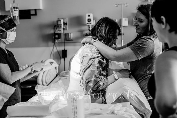 """This nurse made an effort to be in the room with this mama as much as she needed but still giving her the freedom she wanted"