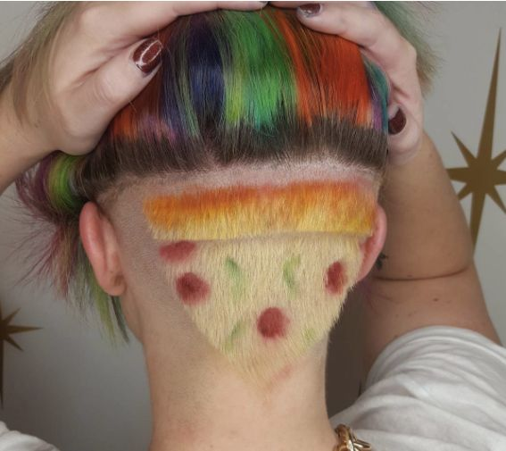 There's A Slice Of Pizza Hiding In This Haircut And Now We're