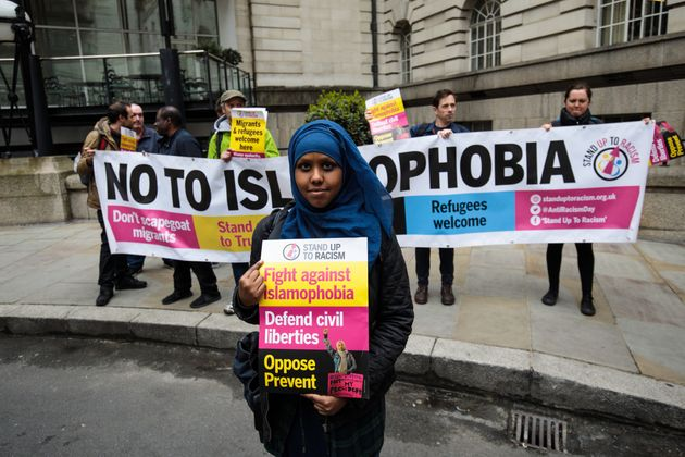 Anti-racism protesters targeted UKIP's official general election campaign launch in central