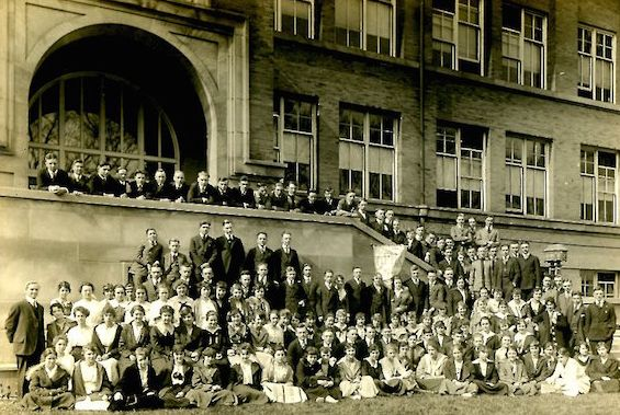 Hemingway's 1917 class at Oak Park and River Forest High School.