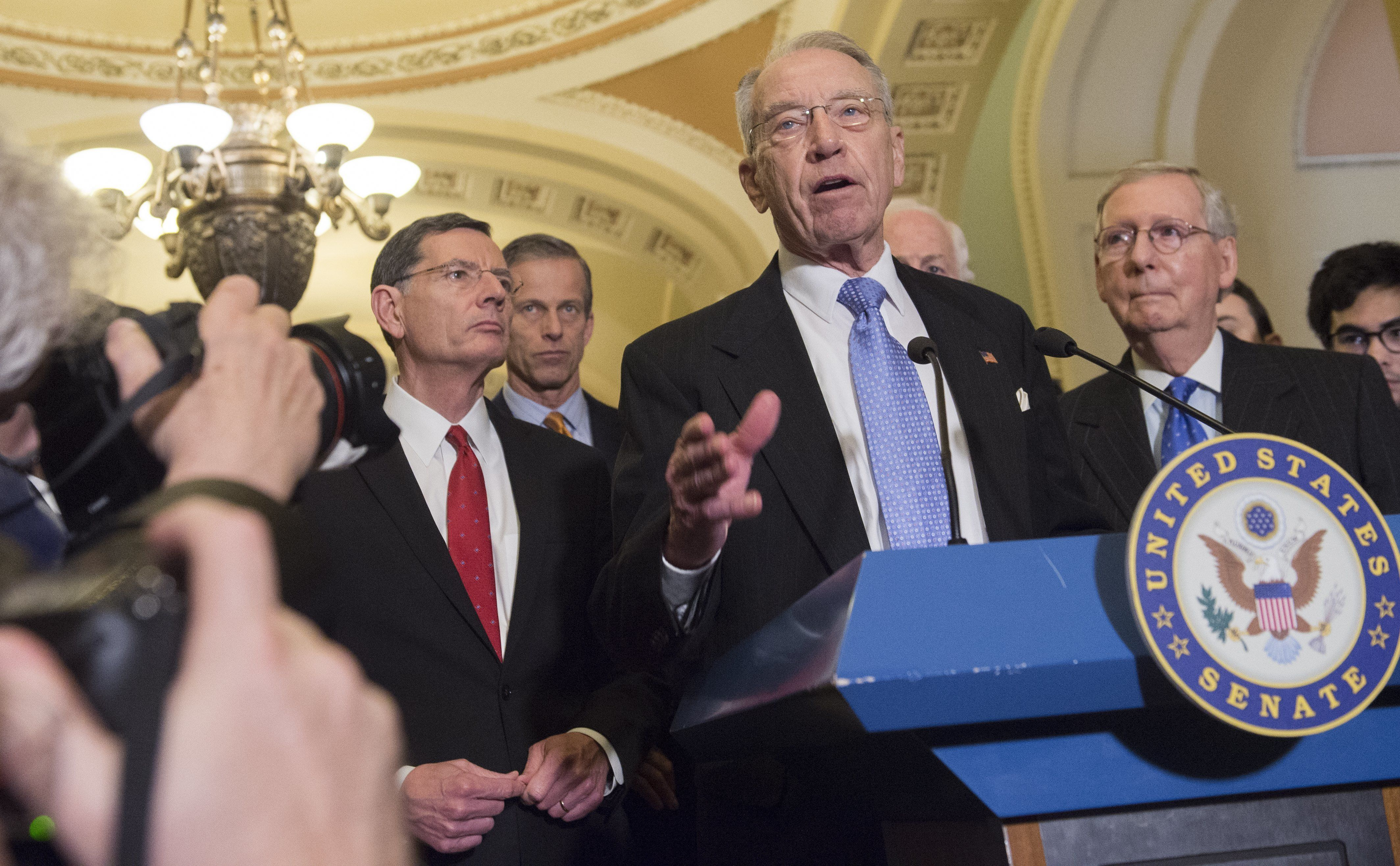 Senate Judiciary Committee ChairmanChuck Grassley said he'd have to talk to colleagues before deciding whether to bring