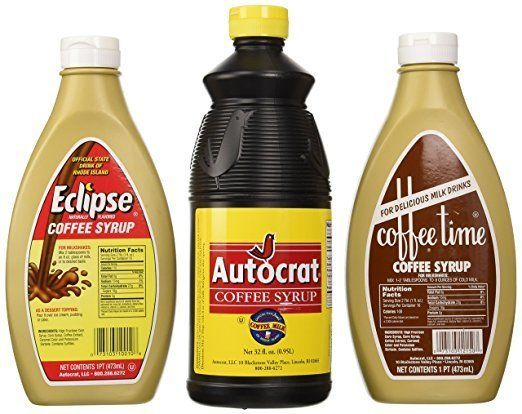 "Coffee syrup sample pack, <a href=""https://www.amazon.com/Coffee-Syrup-Sample-Autocrat-Eclipse/dp/B00B3APKYW/ref=sr_1_4_s_it?s=grocery&ie=UTF8&qid=1494608450&sr=1-4&keywords=autocrat+coffee+syrup"" target=""_blank"">$24.15 on Amazon</a>"