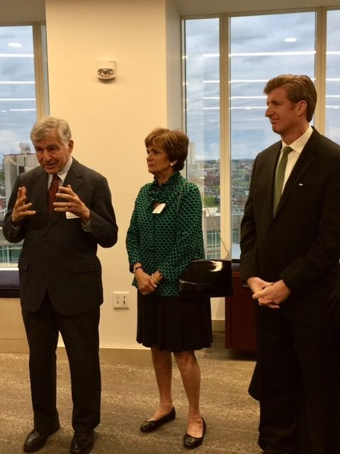 Former Governor Michael Dukakis, Kitty Dukakis, and Patrick Kennedy