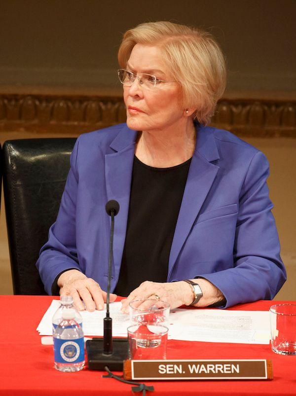 "Ellen Burstyn as Sen. Elizabeth Warren in ""All The President's Men"""